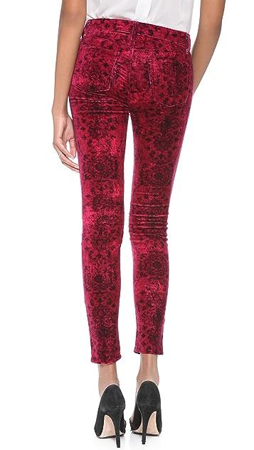 J Brand Anatolia Print Velveteen Pants