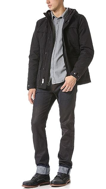 J Brand Kane Turmoil Coated Slim Straight Jeans