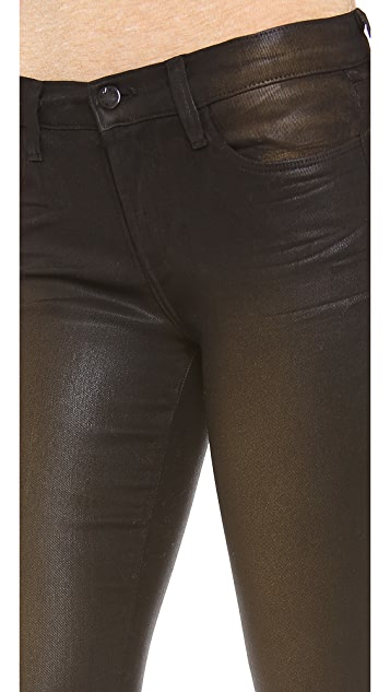 J Brand 620 Super Skinny Coated Jeans