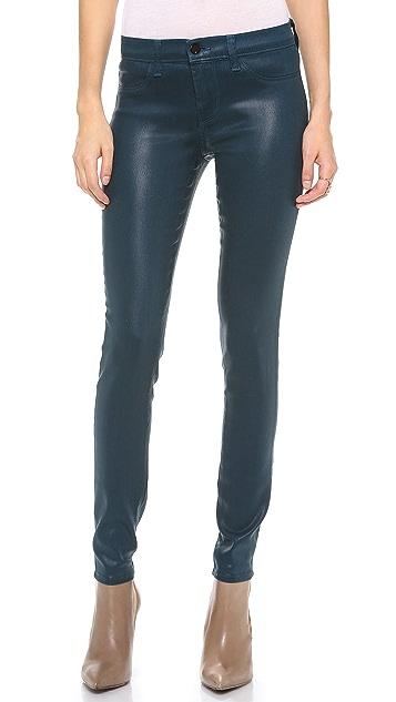J Brand 485 Super Skinny Coated Jeans