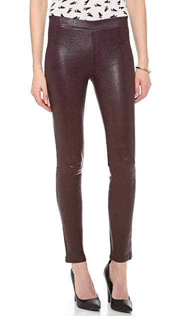 J Brand Leather Leggings