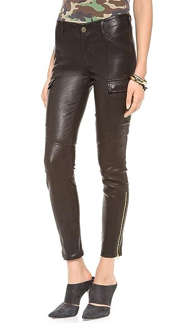 J Brand Leather Houlihan Cargo Pants