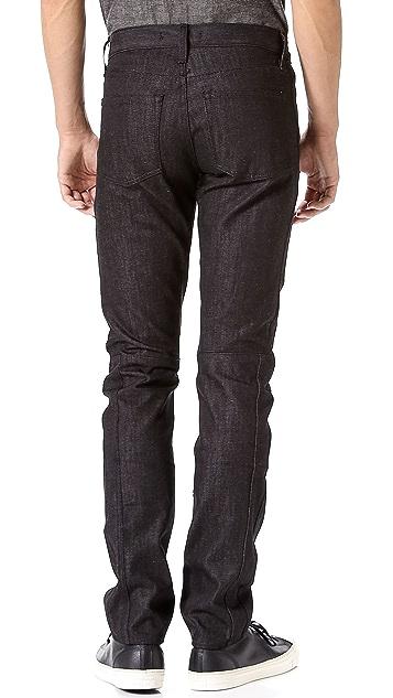 J Brand Mod Raw Black Jeans