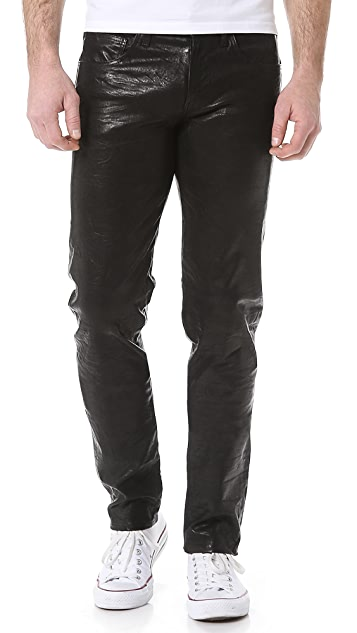 J Brand Tyler Leather Jeans