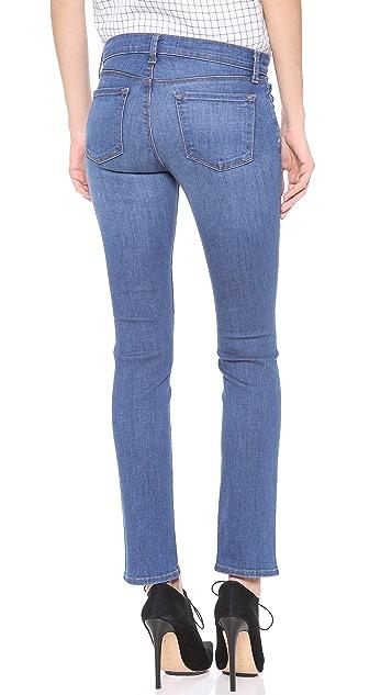 J Brand Petite Mid Rise Rail Jeans