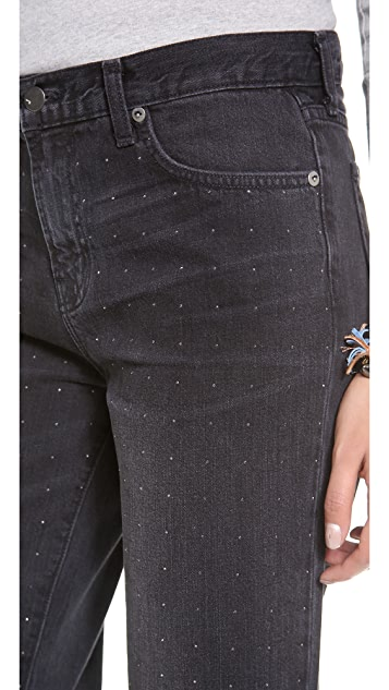 J Brand 1265 Pin Dot Ace Fit Boyfriend Jean