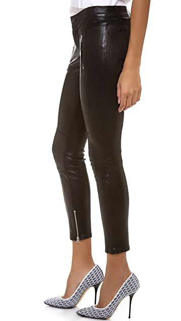 J Brand 1340 Julia Cropped Leather Pants
