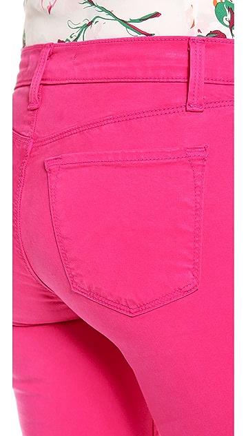 J Brand 485 Mid Rise Skinny Jeans