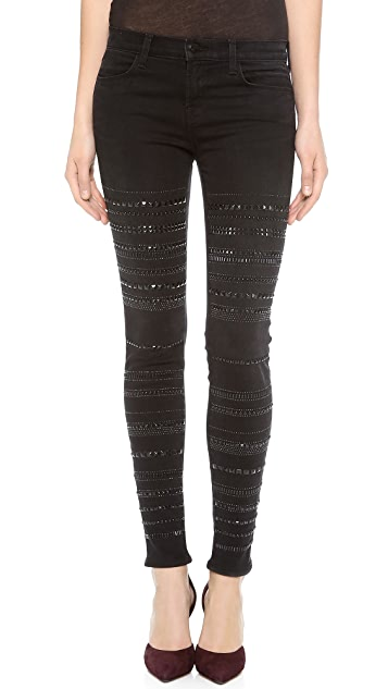 J Brand Genevieve Studded Jeans