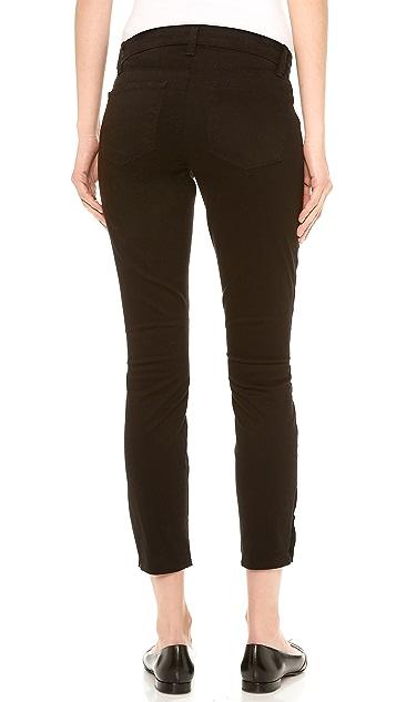 J Brand 83520 Mid Rise Ankle Zipper Jeans