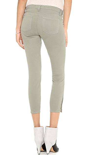 J Brand 83520 Mid Rise Ankle Zipper Jeans