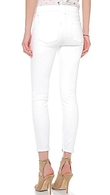 J Brand 23035 Maria Ankle Zip Jeans