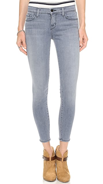 J Brand Mid Rise Crop Jeans