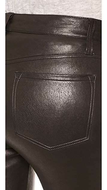 J Brand L8017 Leather Remy Bootcut Pants