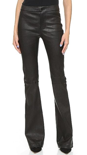 J Brand Viva High Rise Flare Leather Jeans