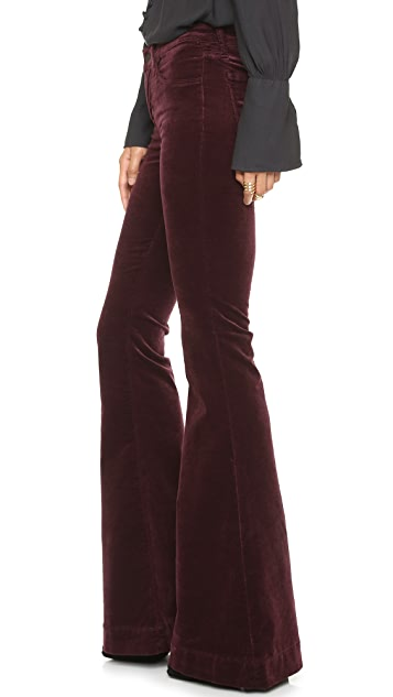J Brand Bella Velvet Kick Flare Jeans