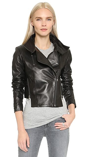 J Brand Connix Leather Jacket ...