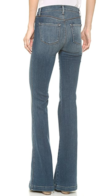 J Brand The Demi High Rise Flare Jeans