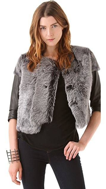 J Brand Ready-to-Wear Ailith Lamb Fur Jacket