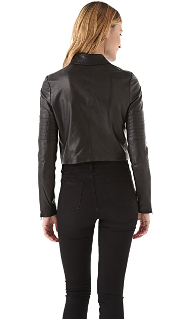 J Brand Ready-to-Wear Aiah Leather Biker Jacket