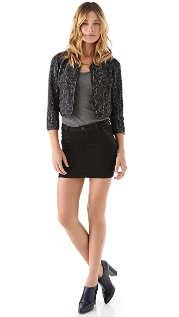 J Brand Ready-to-Wear Alana Tweed Bed Jacket