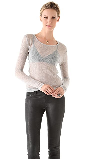 J Brand Ready-to-Wear Debbi Long Sleeve Tee