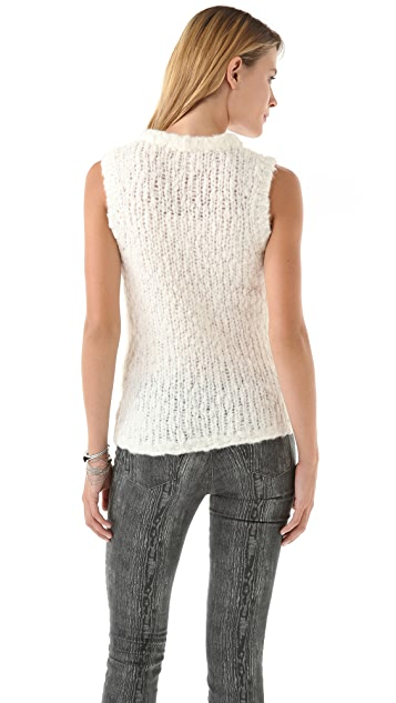 J Brand Ready-to-Wear Aquene Sleeveless Sweater
