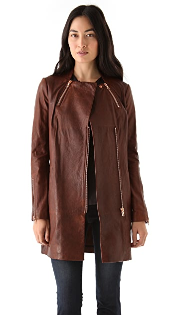 J Brand Ready-to-Wear Beta Leather Coat