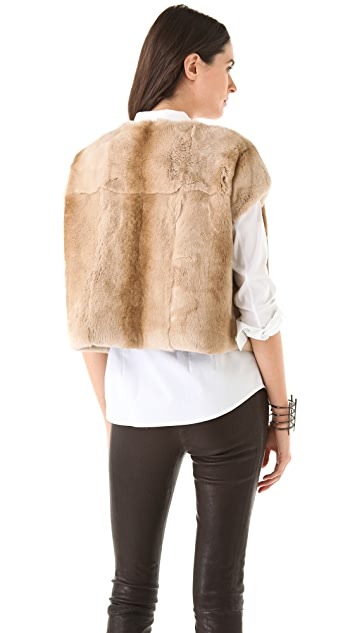 J Brand Ready-to-Wear Blanca Rabbit Sweatshirt