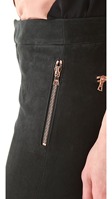 J Brand Ready-to-Wear Bethany Suede Jodhpurs
