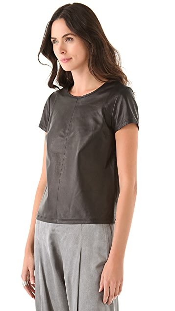 J Brand Ready-to-Wear Candale Leather Tee