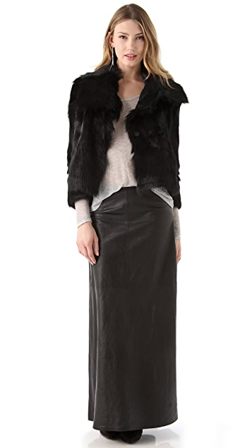 J Brand Ready-to-Wear Cameo Leather Maxi Skirt