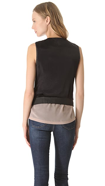 J Brand Ready-to-Wear Renee Leather Vest Jacket