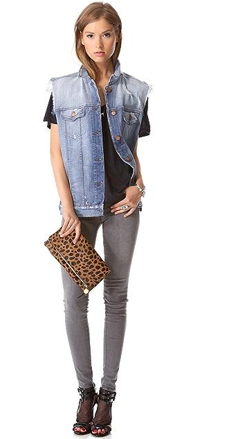 J Brand Ready-to-Wear Janis V Neck Tee