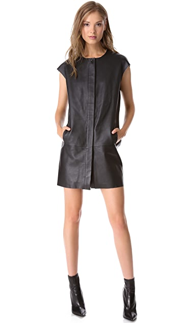 J Brand Ready-to-Wear Isobel Leather Dress