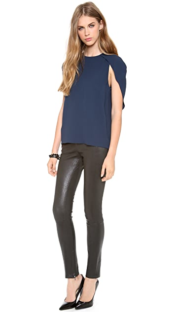 J Brand Ready-to-Wear Morgan Leather Pants