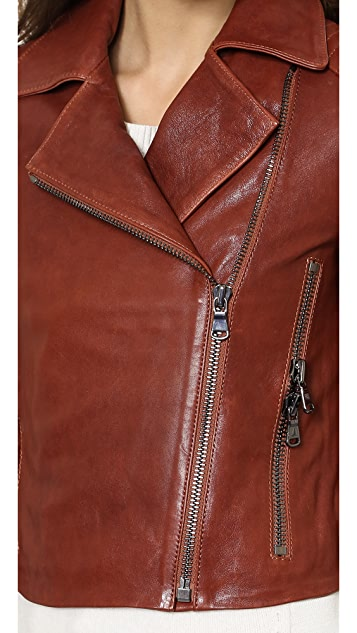 J Brand Ready-to-Wear Aiah Leather Jacket