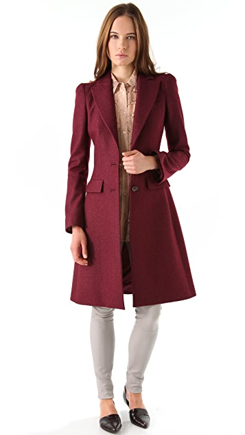 Just Cavalli Heavy Crepe Long Coat
