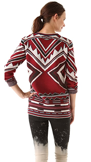 Just Cavalli Jacquard Pullover Sweater
