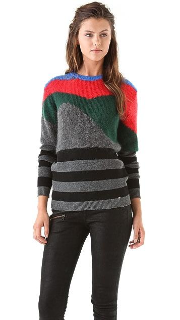 Just Cavalli Intarsia Knit Pullover