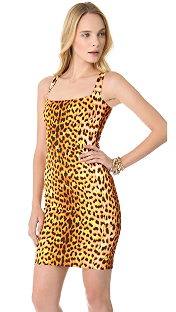 Just Cavalli Leopard Sheath Dress