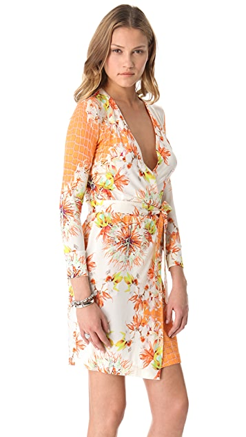 Just Cavalli Venus Print Wrap Dress