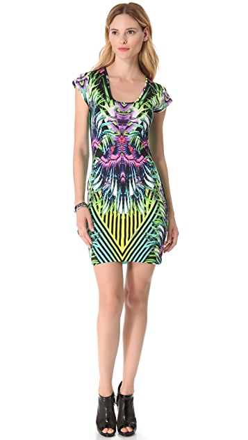 Just Cavalli Abstract Floral Dress