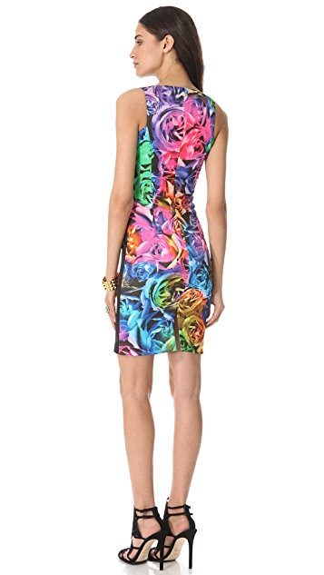 Just Cavalli Techno Rose Sleeveless Dress