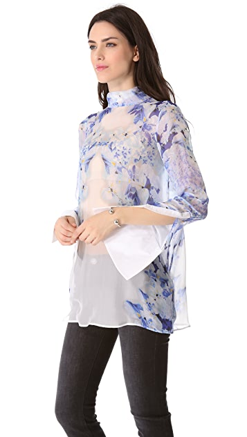 Just Cavalli Floral Tunic Blouse