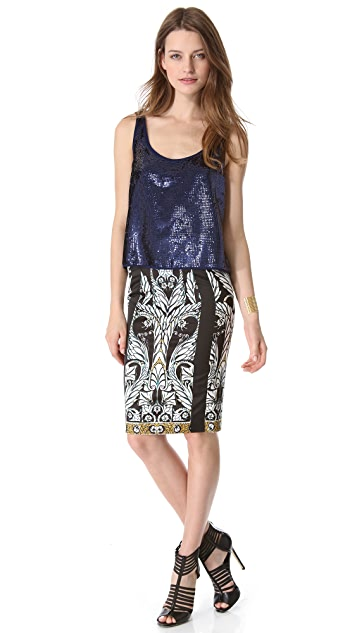 Just Cavalli Print Pencil Skirt