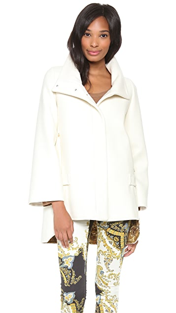 Just Cavalli High Collar Cape