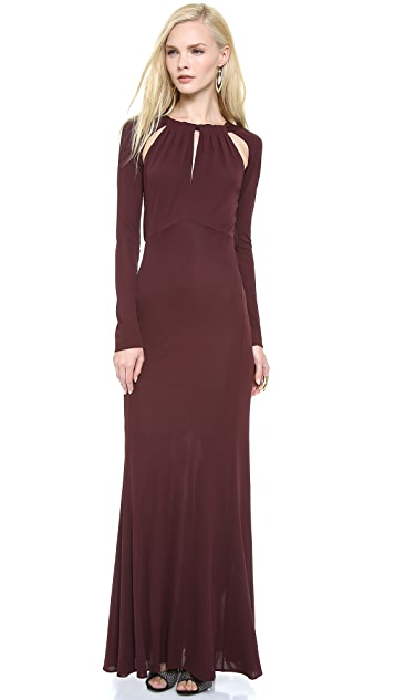 Just Cavalli Gathered Neck Gown