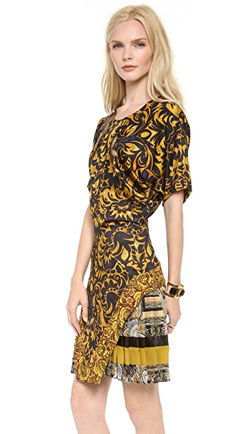 Just Cavalli Short Sleeve Printed Dress