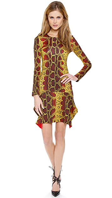 Just Cavalli Python Long Sleeve Dress